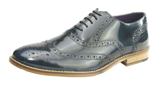 Frank James Newman Navy Shine Shoes
